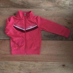NIKE Pink zip up jacket sweater 2T